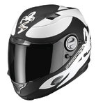 Casco EXO-1000 AIR SUBLIM Negro-Blanco mate/Gloss