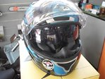 Casco Scorpion exo 1000 type e11 milan azul